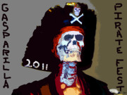 Jose Gasparilla Prints - Gasparilla Pirate Fest Poster Print by David Lee Thompson
