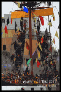 Pirate Ship Posters - Gasparilla Ship Poster Poster by Carol Groenen