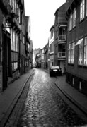 Houses Greeting Cards Prints - Gasse Print by Gerlinde Keating - Keating Associates Inc