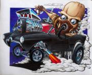 Hotrod Mixed Media Posters - Gasser Poster by Jason Hunt