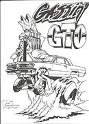 Gassin' Gto Print by Jeff Schwerdtfeger