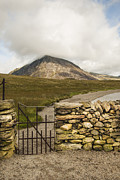Llyn Idwal Prints - Gate at Llyn Idwal Print by John Hallett