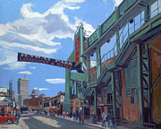 Green Monster Paintings - Gate C by Deb Putnam