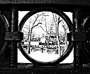 Park Benches Framed Prints - Gate Hole Framed Print by Nikki Rosenberg