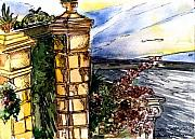 Italian Sunset Originals - Gate in Sorrento by Mindy Newman