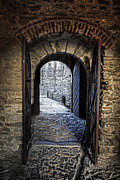 Wooden Building Posters - Gate Of A Castle Poster by Joana Kruse