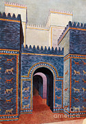 Illustration Of Love Framed Prints - Gate Of Ishtar, Babylonia Framed Print by Photo Researchers