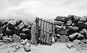 Gate Overlooking Lake Titicaca Print by Darcy Michaelchuk