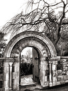 Religious Prints Photos - Gate to Bishops Garden by Steven Ainsworth