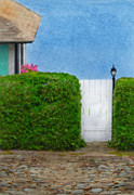 Lamp Post Prints - Gate to Cottage by the Sea Print by Jill Battaglia