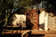 Gate To Cowboy Heaven In Old Tuscon Az Print by Susanne Van Hulst