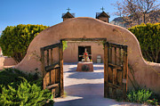 Adobe Framed Prints - Gate to Santuario de Chimayo Framed Print by Steven Ainsworth