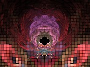 Trippy Digital Art - Gate to the Universe by Ryan Laplante