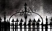 Haunted  Digital Art - Gated by Linda Knorr Shafer