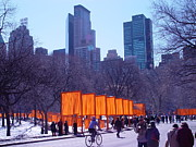 Nyc Digital Art Originals - Gates and Snow in Central Park by Alton  Brothers