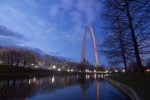 Sven Brogren Art - Gateway Arch at dawn by Sven Brogren