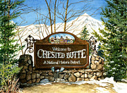 Crested Butte Framed Prints - Gateway to Grandeur Framed Print by Barbara Jewell