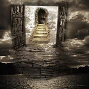 Stone Steps Framed Prints - Gateway to Heaven Framed Print by Andy Frasheski