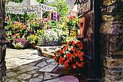 Steps Painting Posters - Gateway to the B and B Poster by David Lloyd Glover