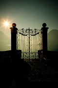 Gate Prints - Gateway To The Lake Print by Joana Kruse