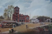 Queen City Paintings - Gateway to the Queen City by Charles Roy Smith