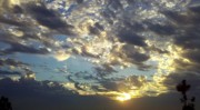 Sun Breaking Through Clouds Art - Gather-Round by Tracy Evans