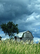 Pennsylvania Barn Print Prints - Gathering Storm Print by Joe JAKE Pratt