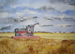 Combine Paintings - Gathering the Harvest by Carole Robins
