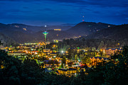 Gatlinburg Tennessee Prints - Gatlinburg and the Smokey Mountains Print by Brian Young