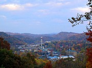 Gatlinburg Framed Prints - Gatlinburg in Fall Framed Print by April Patterson
