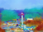 Gatlinburg Prints - Gatlinburg Overlook Print by Richard Foxworth