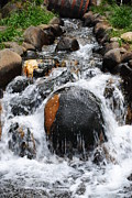 Water Flowing Prints - Gatlinburg Tenn Print by Robert Harmon