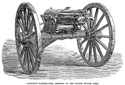 U.s Army Framed Prints - Gatling Gun, 1867 Framed Print by Granger