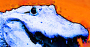 Gator Prints - Gator Art - Swampy Print by Sharon Cummings