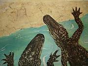 Gators  Paintings - Gators by Wendy Tatter