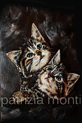 Quadro Drawings - Gattini by Patrizia Monti