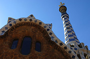 Parc Guell Prints - Gaudi Architecture Print by Bob Christopher