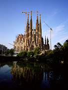 Antoni Gaudi Prints - Gaudis Sagrada Familia In Barcelona Print by Chris Hill