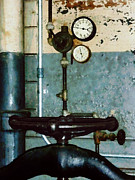 Machinists Photos - Gauges in Machine Shop by Susan Savad