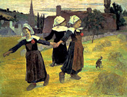 Breton Posters - Gauguin: Breton Girls, 1888 Poster by Granger