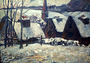 Breton Paintings - Gauguin: Breton Village by Granger