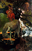 1898 Photos - Gauguin: White Horse, 1898 by Granger