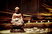 Meditation Photo Metal Prints - Gautama Buddha Metal Print by Olivier Le Queinec