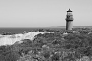 Gay Photos - Gay Head Lighthouse - Black and White by Carol Groenen