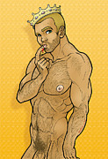 Gay Digital Art Originals - Gay Tales by David Cantero