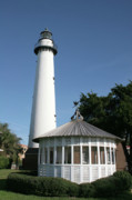 Navigate Framed Prints - Gazebo and Lighthouse Framed Print by Darryl Brooks