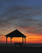 Terry Deluco Framed Prints - Gazebo at Sunset Framed Print by Terry DeLuco