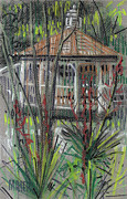 Garden Pastels Originals - Gazebo by Donald Maier