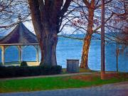 Niagara On The Lake Framed Prints - Gazebo Niagara On The Lake Framed Print by Deborah MacQuarrie