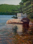 Maine Paintings - Gazebo on Thompson Lake  by Jeff Toole